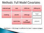 methods full model covariates