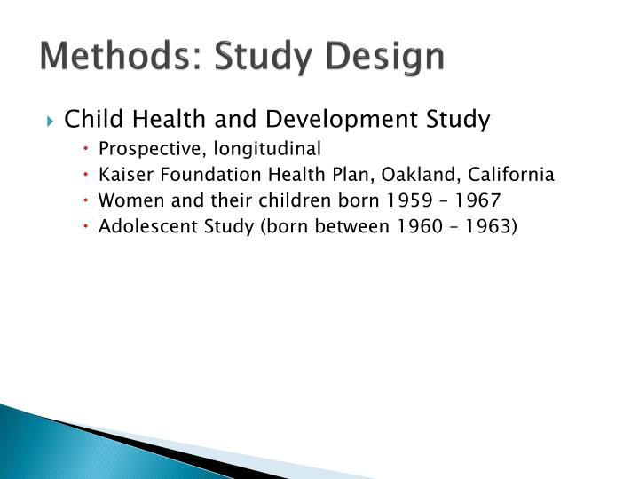 Methods: Study Design