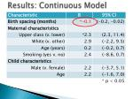 results continuous model