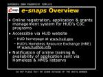 e snaps overview