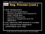 reg process cont