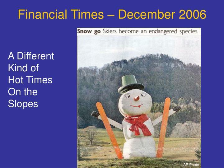 Financial Times – December 2006