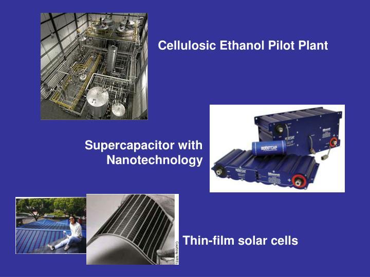 Cellulosic Ethanol Pilot Plant