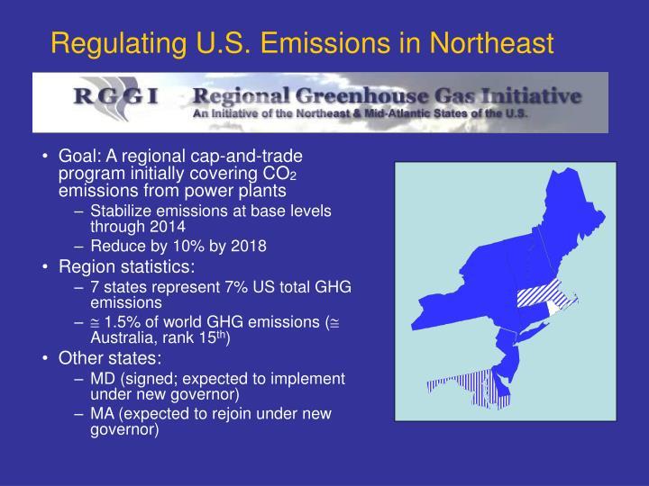 Regulating U.S. Emissions in Northeast