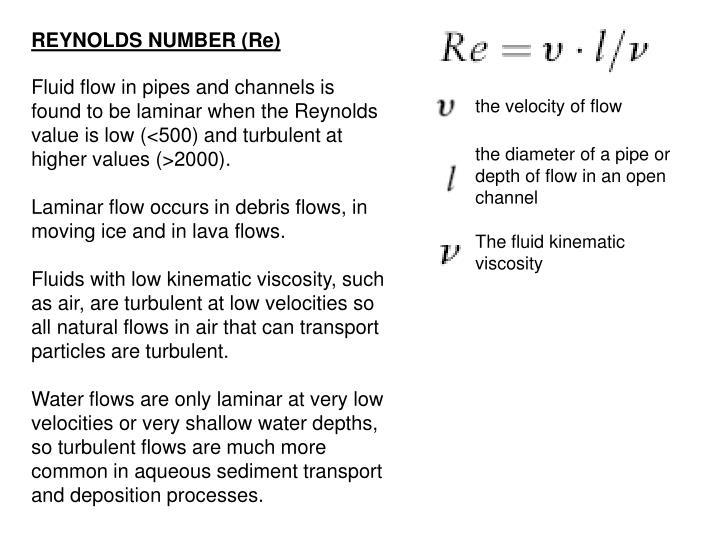 the velocity of flow