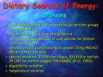 dietary sources of energy proteins