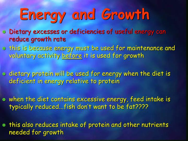 Energy and Growth