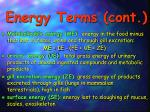 energy terms cont