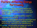 factors affecting energy partitioning1