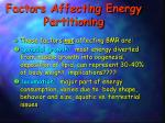 factors affecting energy partitioning2
