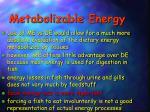 metabolizable energy1