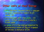 other units of heat energy