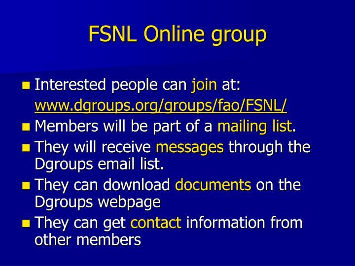 FSNL Online group