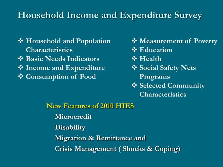 Household Income and Expenditure Survey