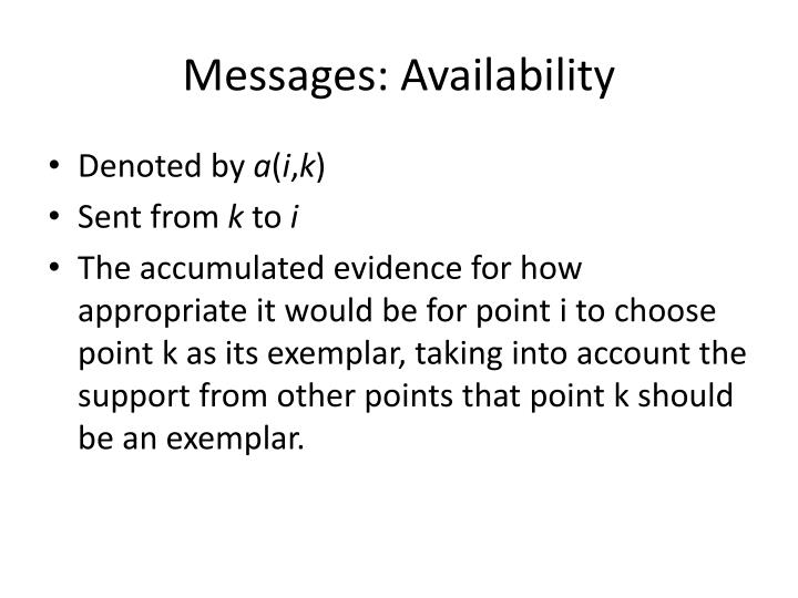 Messages: Availability