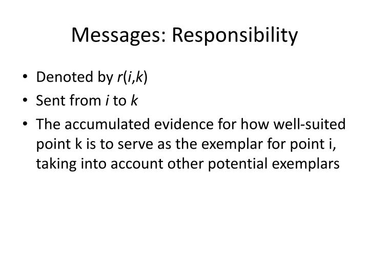 Messages: Responsibility