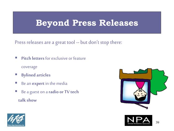 Beyond Press Releases