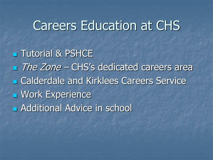 Careers Education at CHS