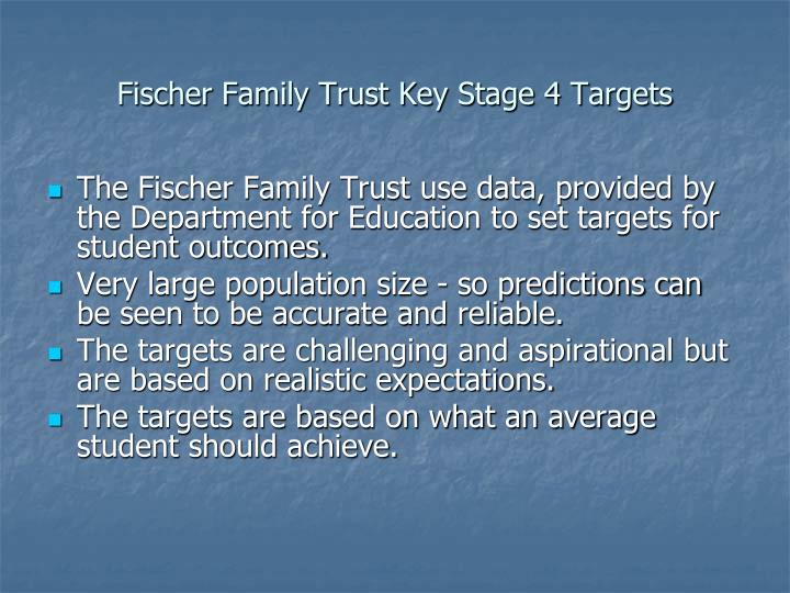 Fischer Family Trust Key Stage 4 Targets