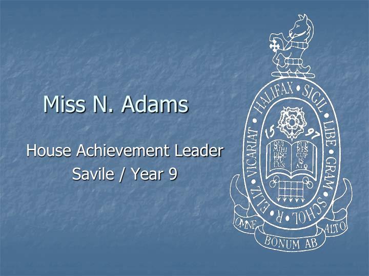 Miss N. Adams