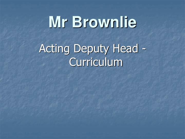 Mr Brownlie