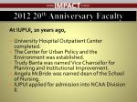 2012 20 th anniversary faculty2