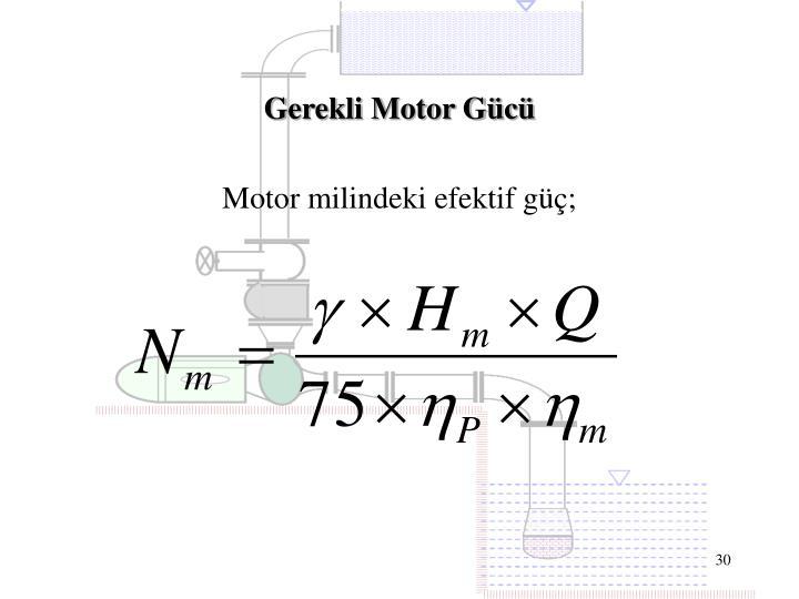 Gerekli Motor Gücü