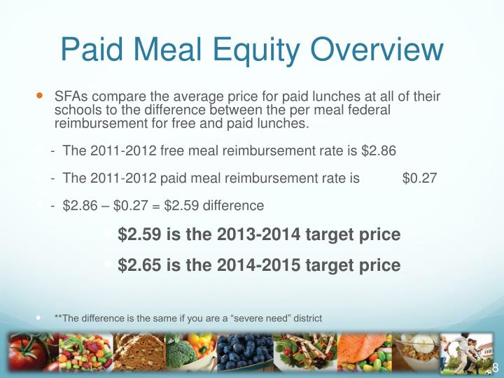 Paid Meal Equity Overview