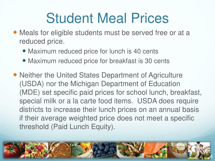 Student Meal Prices
