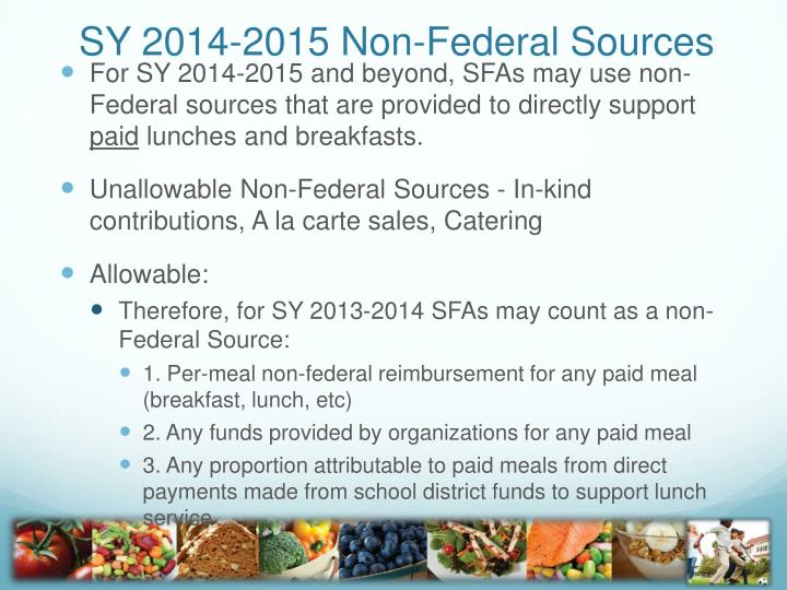 SY 2014-2015 Non-Federal Sources