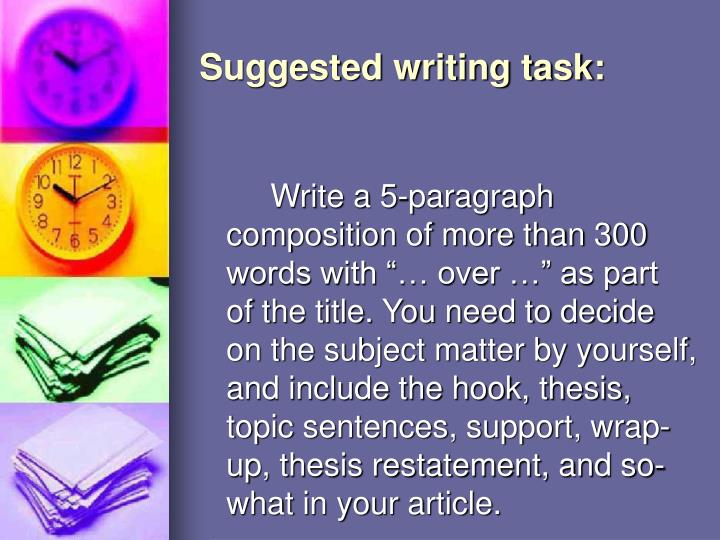 Suggested writing task: