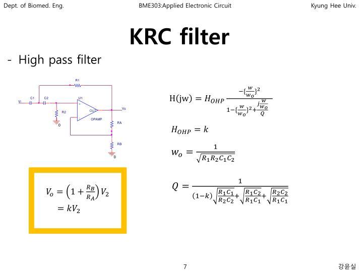 KRC filter