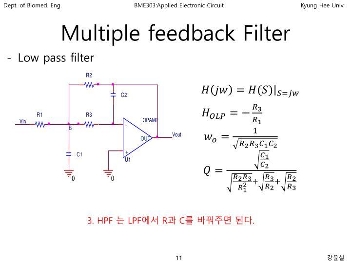 Multiple feedback Filter