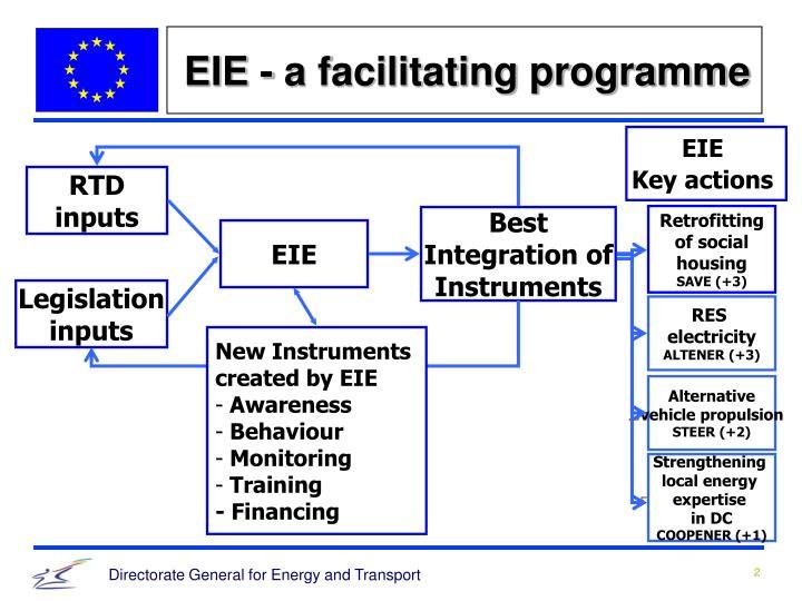 EIE - a facilitating programme