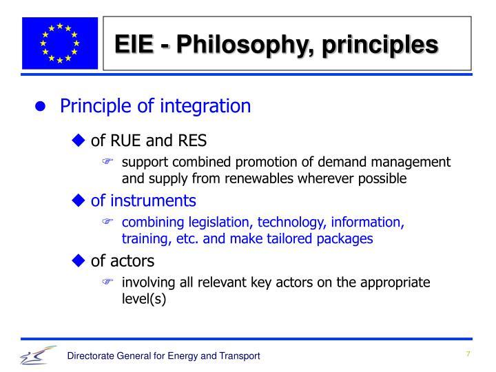 EIE - Philosophy, principles