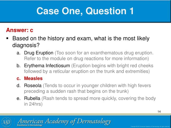 Case One, Question 1