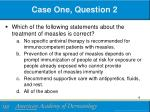 case one question 2