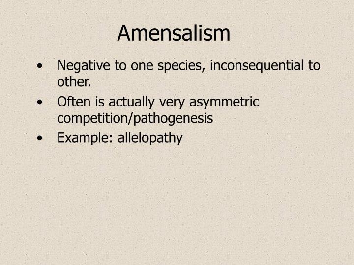 Amensalism