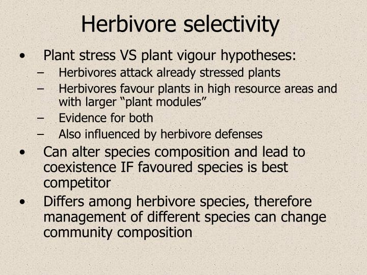 Herbivore selectivity