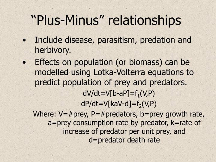 """""""Plus-Minus"""" relationships"""