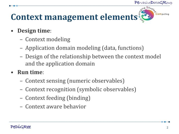 Context management elements