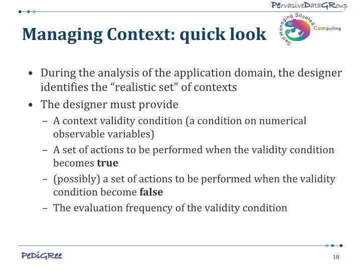 Managing Context: quick look