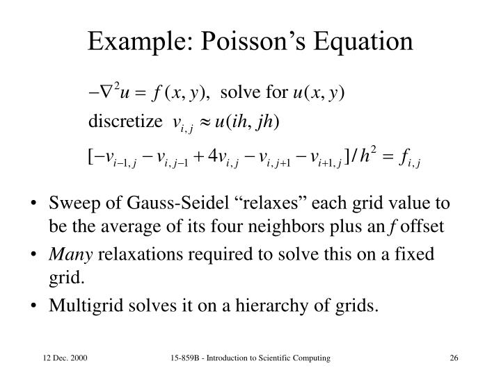 Example: Poisson's Equation
