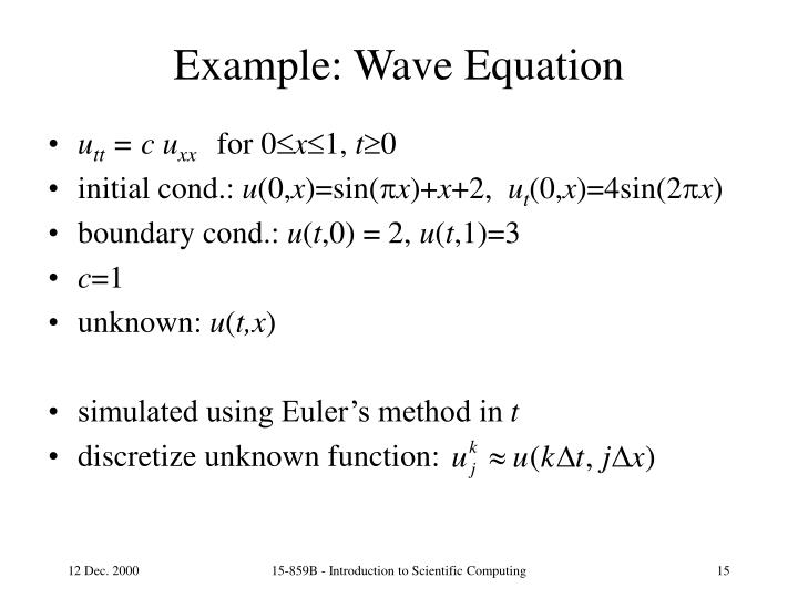 Example: Wave Equation