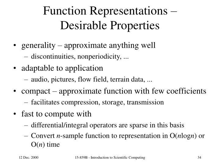 Function Representations –