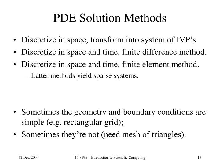PDE Solution Methods