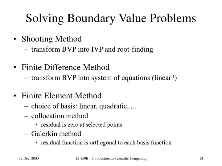 Solving Boundary Value Problems