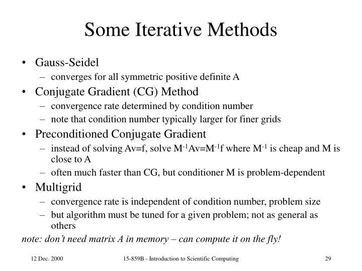 Some Iterative Methods