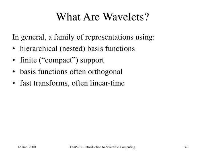 What Are Wavelets?