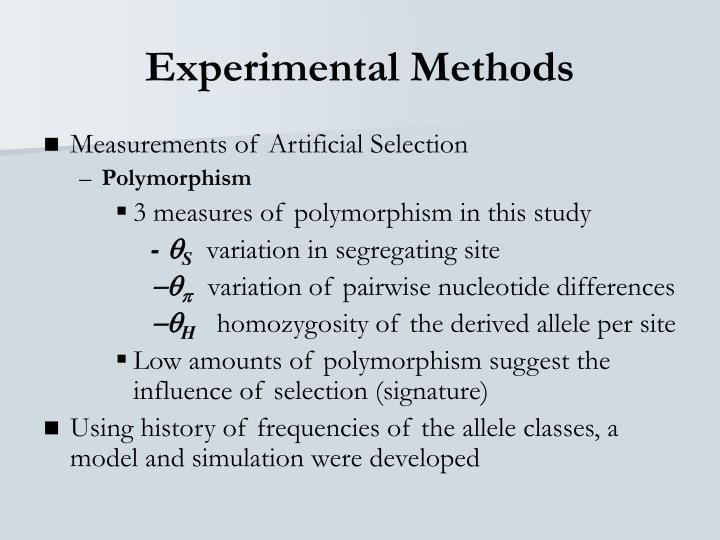 Experimental Methods
